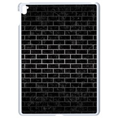 Brick1 Black Marble & Gray Metal 1 Apple Ipad Pro 9 7   White Seamless Case
