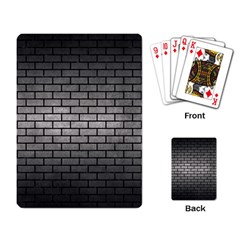 Brick1 Black Marble & Gray Metal 1 (r) Playing Card