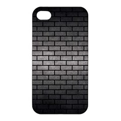 Brick1 Black Marble & Gray Metal 1 (r) Apple Iphone 4/4s Premium Hardshell Case