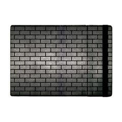 Brick1 Black Marble & Gray Metal 1 (r) Apple Ipad Mini Flip Case
