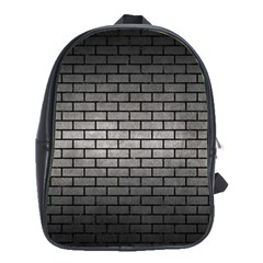 Brick1 Black Marble & Gray Metal 1 (r) School Bag (xl)