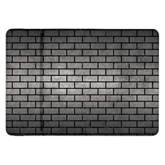 Brick1 Black Marble & Gray Metal 1 (r) Samsung Galaxy Tab 8 9  P7300 Flip Case