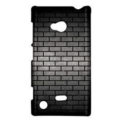 Brick1 Black Marble & Gray Metal 1 (r) Nokia Lumia 720