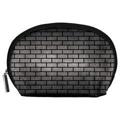 Brick1 Black Marble & Gray Metal 1 (r) Accessory Pouches (large)