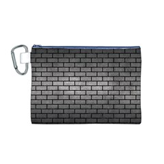 Brick1 Black Marble & Gray Metal 1 (r) Canvas Cosmetic Bag (m)