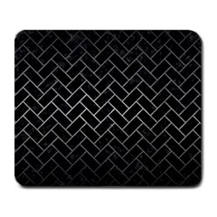 Brick2 Black Marble & Gray Metal 1 Large Mousepads
