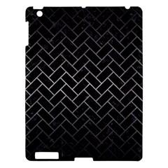 Brick2 Black Marble & Gray Metal 1 Apple Ipad 3/4 Hardshell Case