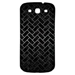 Brick2 Black Marble & Gray Metal 1 Samsung Galaxy S3 S Iii Classic Hardshell Back Case