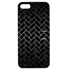 Brick2 Black Marble & Gray Metal 1 Apple Iphone 5 Hardshell Case With Stand