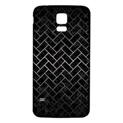 Brick2 Black Marble & Gray Metal 1 Samsung Galaxy S5 Back Case (white)