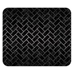 Brick2 Black Marble & Gray Metal 1 Double Sided Flano Blanket (small)