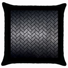 Brick2 Black Marble & Gray Metal 1 (r) Throw Pillow Case (black)