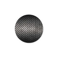 Brick2 Black Marble & Gray Metal 1 (r) Golf Ball Marker