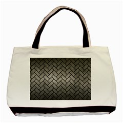 Brick2 Black Marble & Gray Metal 1 (r) Basic Tote Bag (two Sides)