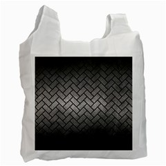 Brick2 Black Marble & Gray Metal 1 (r) Recycle Bag (two Side)