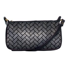 Brick2 Black Marble & Gray Metal 1 (r) Shoulder Clutch Bags