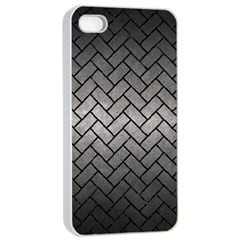 Brick2 Black Marble & Gray Metal 1 (r) Apple Iphone 4/4s Seamless Case (white)