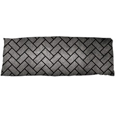 Brick2 Black Marble & Gray Metal 1 (r) Body Pillow Case (dakimakura)