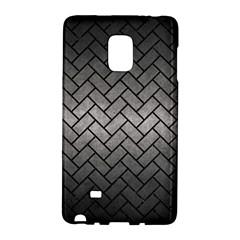 Brick2 Black Marble & Gray Metal 1 (r) Galaxy Note Edge