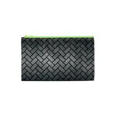 Brick2 Black Marble & Gray Metal 1 (r) Cosmetic Bag (xs)