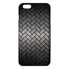 Brick2 Black Marble & Gray Metal 1 (r) Iphone 6 Plus/6s Plus Tpu Case