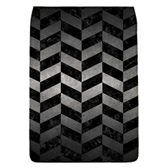 Chevron1 Black Marble & Gray Metal 1 Flap Covers (s)