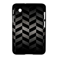 Chevron1 Black Marble & Gray Metal 1 Samsung Galaxy Tab 2 (7 ) P3100 Hardshell Case