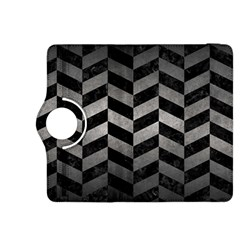 Chevron1 Black Marble & Gray Metal 1 Kindle Fire Hdx 8 9  Flip 360 Case