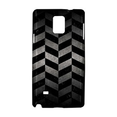 Chevron1 Black Marble & Gray Metal 1 Samsung Galaxy Note 4 Hardshell Case