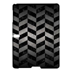 Chevron1 Black Marble & Gray Metal 1 Samsung Galaxy Tab S (10 5 ) Hardshell Case