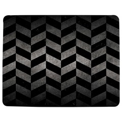 Chevron1 Black Marble & Gray Metal 1 Jigsaw Puzzle Photo Stand (rectangular)