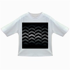 Chevron2 Black Marble & Gray Metal 1 Infant/toddler T Shirts