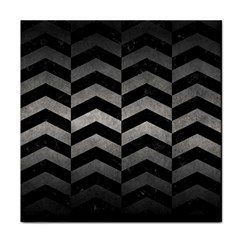Chevron2 Black Marble & Gray Metal 1 Face Towel