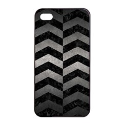 Chevron2 Black Marble & Gray Metal 1 Apple Iphone 4/4s Seamless Case (black)