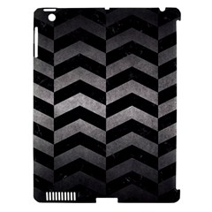 Chevron2 Black Marble & Gray Metal 1 Apple Ipad 3/4 Hardshell Case (compatible With Smart Cover)