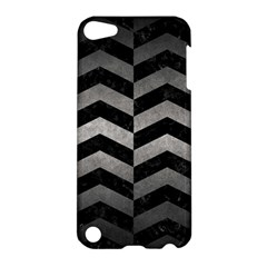 Chevron2 Black Marble & Gray Metal 1 Apple Ipod Touch 5 Hardshell Case