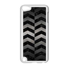 Chevron2 Black Marble & Gray Metal 1 Apple Ipod Touch 5 Case (white)
