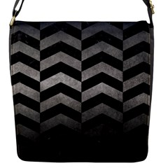 Chevron2 Black Marble & Gray Metal 1 Flap Messenger Bag (s)