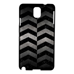 Chevron2 Black Marble & Gray Metal 1 Samsung Galaxy Note 3 N9005 Hardshell Case