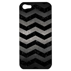 Chevron3 Black Marble & Gray Metal 1 Apple Iphone 5 Hardshell Case