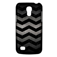 Chevron3 Black Marble & Gray Metal 1 Galaxy S4 Mini