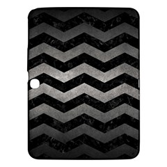 Chevron3 Black Marble & Gray Metal 1 Samsung Galaxy Tab 3 (10 1 ) P5200 Hardshell Case