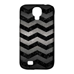 Chevron3 Black Marble & Gray Metal 1 Samsung Galaxy S4 Classic Hardshell Case (pc+silicone)