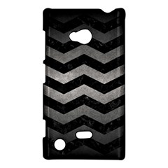 Chevron3 Black Marble & Gray Metal 1 Nokia Lumia 720