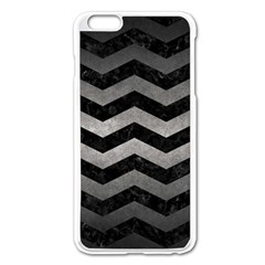 Chevron3 Black Marble & Gray Metal 1 Apple Iphone 6 Plus/6s Plus Enamel White Case