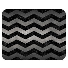 Chevron3 Black Marble & Gray Metal 1 Double Sided Flano Blanket (medium)
