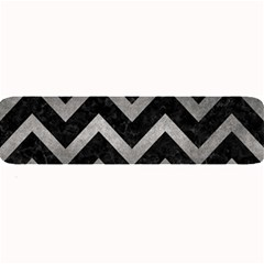 Chevron9 Black Marble & Gray Metal 1 Large Bar Mats