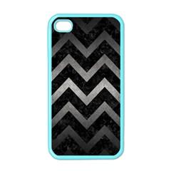 Chevron9 Black Marble & Gray Metal 1 Apple Iphone 4 Case (color)