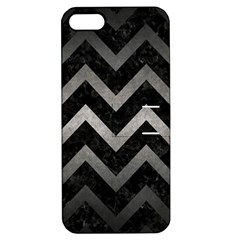 Chevron9 Black Marble & Gray Metal 1 Apple Iphone 5 Hardshell Case With Stand
