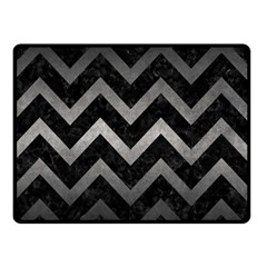 Chevron9 Black Marble & Gray Metal 1 Double Sided Fleece Blanket (small)